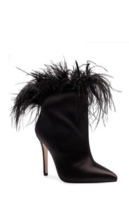 Jessica Simpson Prixey Feather Trim Pointed Toe Bo