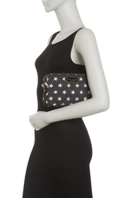 Marc Jacobs Quilted Double Zip Printed Cosmetic Ca