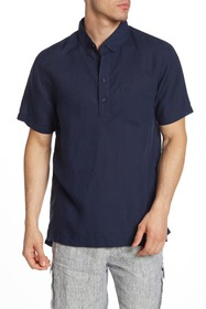 Onia Josh Short Sleeve Henley Shirt