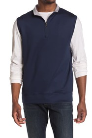 Oxford Hillcrest Quarter Zip Sleeveless Pullover