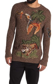 Valentino Graphic Tropical Knit Sweater