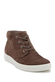 ECCO Soft Classic High Top Leather Sneaker