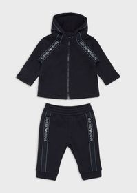 Armani Hooded tracksuit with logo tape