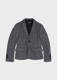 Armani Single-breasted jacket with houndstooth mot