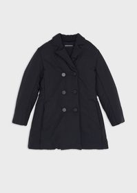 Armani Quilted, padded, nylon trench coat