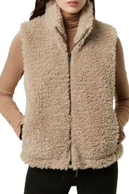 French Connection Fabi Faux Shearling Zip Vest