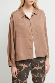French Connection Carla Boxy Collared Jacket