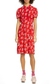 Anna Sui Bérard Faces Print Dress
