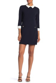 Tommy Hilfiger Collared 3/4 Sleeve Dress
