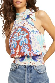 Free People Kelsey Printed Mock Neck Tank