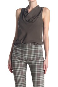 Theory Sleeveless Cowlneck Blouse