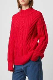 French Connection Nissa Cable Knit Pullover Sweate