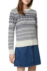 French Connection Esme Fair Isle Pullover Sweater