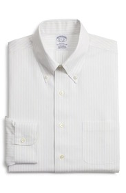 Brooks Brothers Stripe Regular Fit Dress Shirt