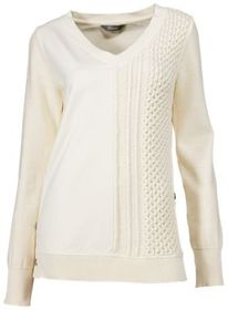 Natural Reflections Cable Knit Long-Sleeve Sweatsh