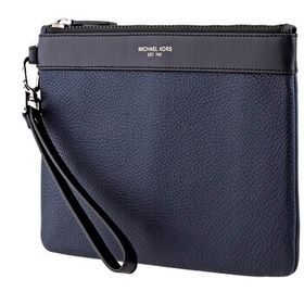 Michael Kors Michael Kors Blue Pebbled Leather Tra
