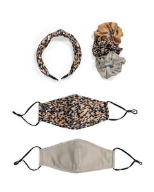 Adult 6pc Face Mask And Hair Accessory Set