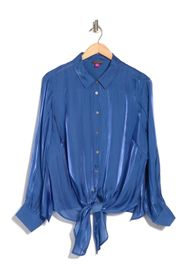Vince Camuto Long Sleeve Button Down Tie Front Iri