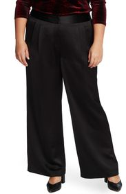 Vince Camuto Wide Leg Pleated Satin Pants
