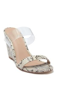 BCBG Pina Metallic Embossed Wedge Sandal