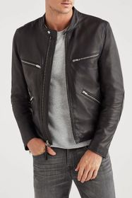 7 For All Mankind Cafe Racer Leather
