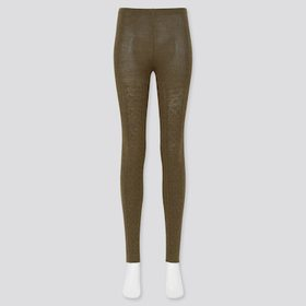 Women Heattech Cable Knitted Leggings (Online Excl