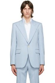 Givenchy - Blue Wool Classic Fit Blazer