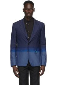 Givenchy - Blue Single-Breasted Gradient Blazer