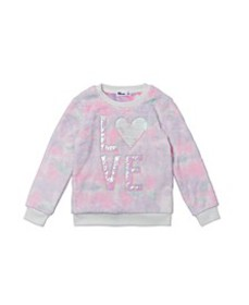 Toddler Girls Long Sleeve All Over Print Minky Pul