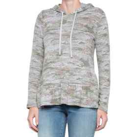 Jane and Delancey Camo Ruffled Hoodie (For Women)