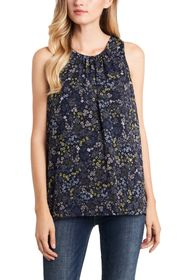 Vince Camuto Sleeveless Ditsy Blouse