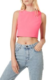 French Connection Neon Whisper Crop Top