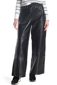 French Connection Adela Leather Loose Trousers