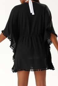 Tommy Bahama Elbow Sleeve Pompom Cover-Up Tunic