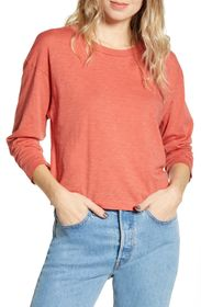Stateside Long Sleeve Slub Boxy Top
