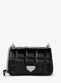 Michael Kors Soho Large Quilted Crinkled Leather S
