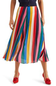 BODEN Fairfax Pleated Maxi Skirt