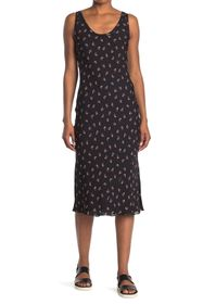 Theory Floral Print Scoop Tank Dress