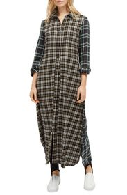 French Connection Este Checked Maxi Dress