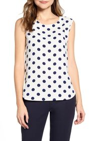 Anne Klein Dot Print U-Neck Tank