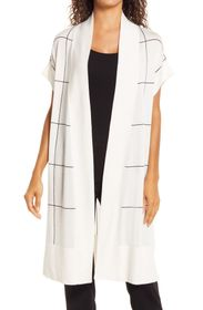 Anne Klein Windowpane Sleeveless Cape