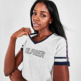Women's Tommy Hilfiger Micro Tape V-Neck T-Shirt