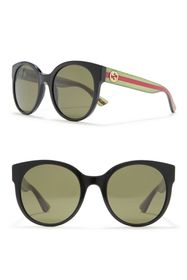 GUCCI 54mm Round Cat Eye Sunglasses