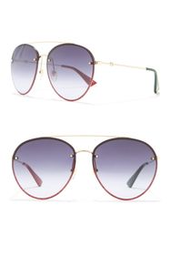 GUCCI 62mm Round Sunglasses
