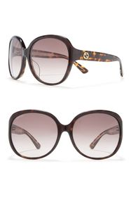 GUCCI 61mm Butterfly Sunglasses