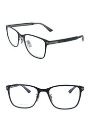GUCCI 54mm Titanium Square Optical Frames