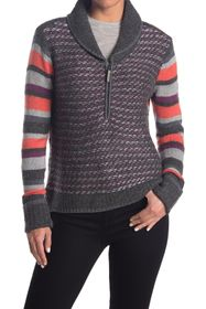 SmartWool Mixed Print 1/2 Zip Pullover Sweater