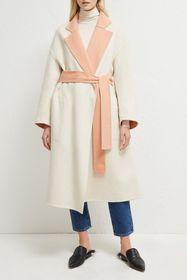 French Connection Daralice Belted Colorblock Coat