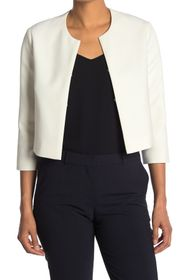 BOSS Solid 3/4 Sleeve Crop Jacket