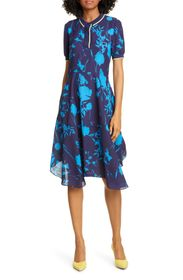 Ted Baker London Ohlah Floral Collared Midi Dress
